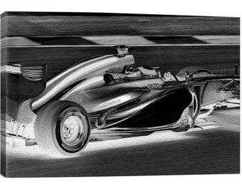 Formula 1 Canvas Print | Gallery Framed | 20% off SALE at Checkout Use Coupon Code: FEB20A