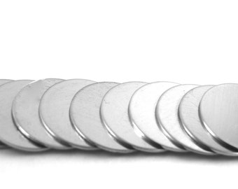 Stamping Blanks Aluminum 18 gauge Round - You choose the size  De-Bured