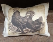 Primitive  Rooster Accent Pillow
