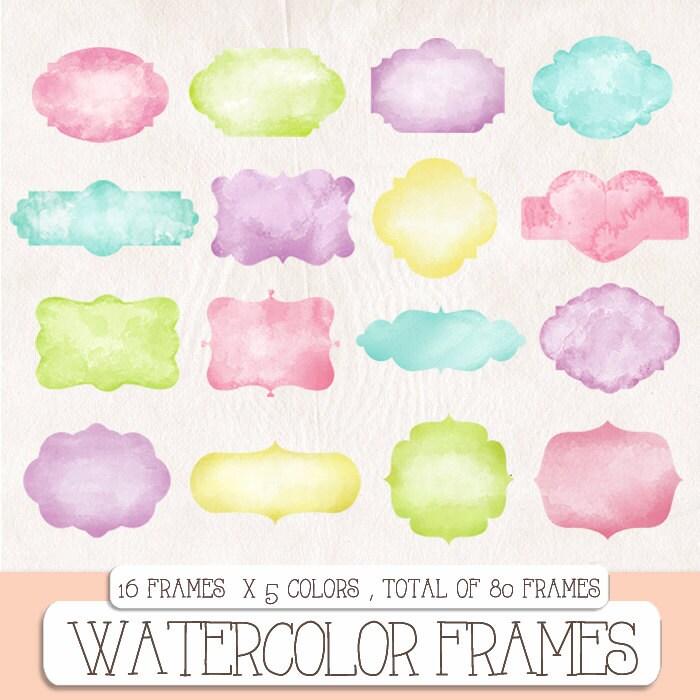 watercolor borders | The Royal Digital Store