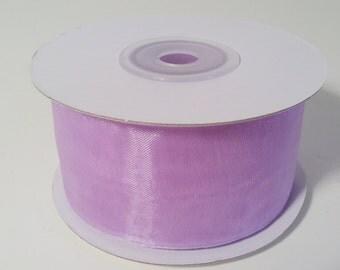 Sheer Organza Ribbon - Lavender - 25 Yards