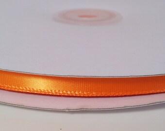 Single Face Satin Ribbon - Orange - 100 Yards