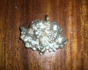 angel pendant silver sterling 925 with 2 guardian angels