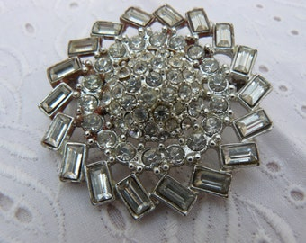 brooch silver and shiny