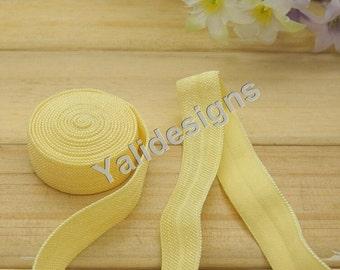 10 Yards 3/8''  Beige Elastic Headband Baby Hairbow Soft Foldover Elastic Binding Webbing Tape Craft Sewing  - YTA13