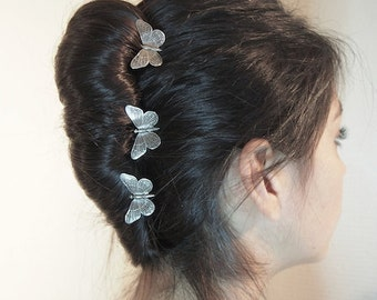 Three small hairpins, butterfly