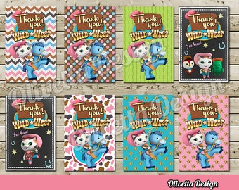 Sheriff Callie Thank You Cards for Birthday Party, 8 Designs Included! - Instant Download! Digital File