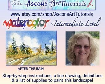Ascone Intermediate Watercolor Tutorial-After the Rain