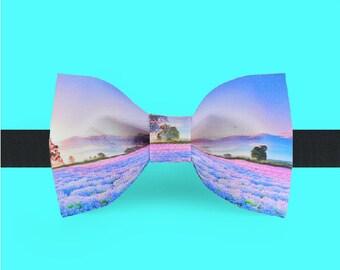 Provence Bow Tie - Purple Bowtie - Wedding bowtie - Lavender bowtie - Foral Bowtie