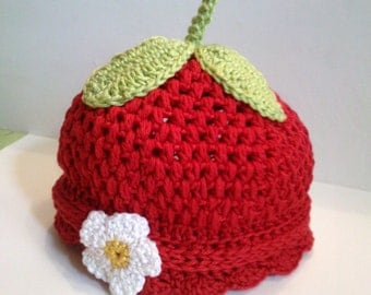 Super Sweet of Strawberry Hat handmade crochet