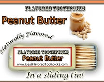Peanut Butter Flavored Toothpicks - 70+ Flavors! Flavor, Candy, Flavored Toothpick, Dental Office Decor, Dental Gift, Teeth, Jelly, Cookies