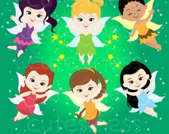 Fairy Digital Clipart, Fairy Clipart, tinkerbell clipart