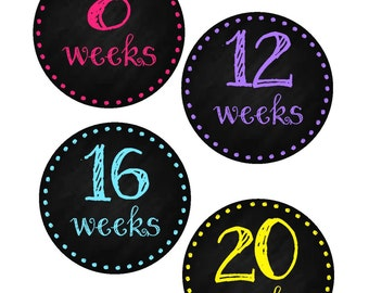 Pregnancy Belly Stickers, Weekly Pregnancy Stickers, Pregnancy Announcement, Pregnancy Photo Prop, Maternity Stickers, P10