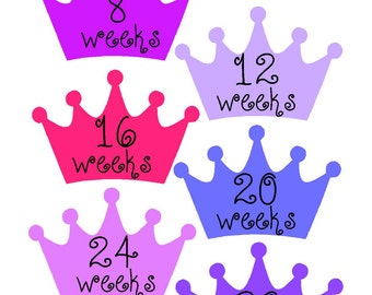 Weekly Pregnancy Stickers, Pregnancy Announcement, Pregnancy Belly Stickers, Pregnancy Photo Prop, Maternity Stickers, P31