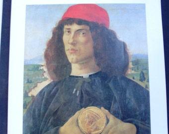 libro d'arte, immagini artistiche, libro d'arte vintage - maestro pittura italiana - dipinti ad olio su tela, BOTTICELLI SANDRO pittore 1400