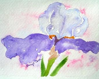 Iris Watercolor Notecard
