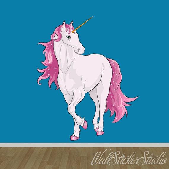 unicorn wall decal fabric wall decal wall sticker decals unicorn wall sticker rainbow wall decal art girls bedroom
