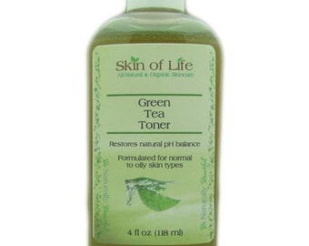 Green Tea Toner 4 oz for Acne and Oily Skin