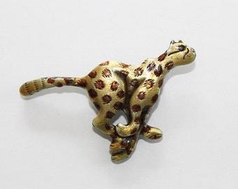 Cute Jaguar or Cheetah Pin, Jaguar Brooch, JW141