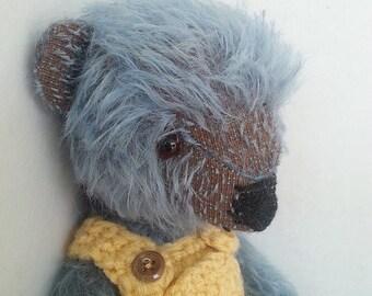 Artist Bear Blue Mohair