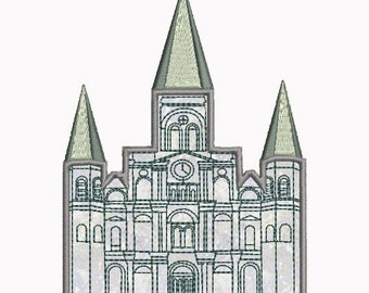 St. Louis Cathedral (Castle) Applique Machine Embroidery Design Download