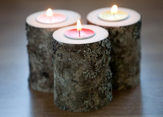 Items similar to rustic candle holder tea light