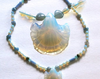 Opalescent Lily Necklace