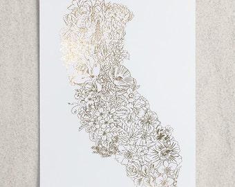Botanical California Foil Print