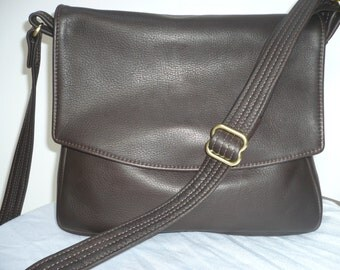 LEATHER CONCEALED POCKET Bag with Adjustable Crossbody Strap Style #352