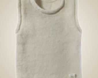 Organic Merino wool baby vest