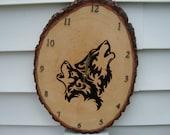 Howling wolf clock