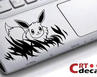 Evee Pokemon Vinyl Decal - wrist decal - Laptop Decal - Vinyl keyboard decal - Computer Decal - Computer Sticker - palm rest sticker