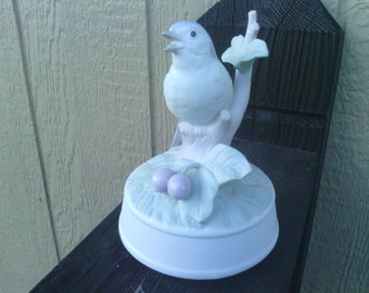 Music Box with a Blue Bird and Berries , Crowning Touch.