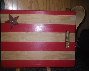 Re-purposed Rustic Cutting Board Flag
