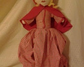 Vintage/collectible topsy-turvy,Little Red Riding Hood doll