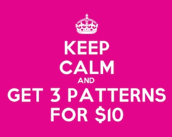 Sweet Sale - Score Any Three Crochet Patterns for Only 10 Dollars