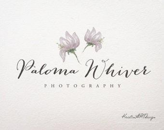 Handrawn logo design, Premade logo, Photography logo, Watercolor logo,Flower logo design, Handwritten logo, Watermark127