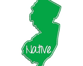New Jersey Native Vinyl Sticker Car Window Door Bumper Decal Pride NJ