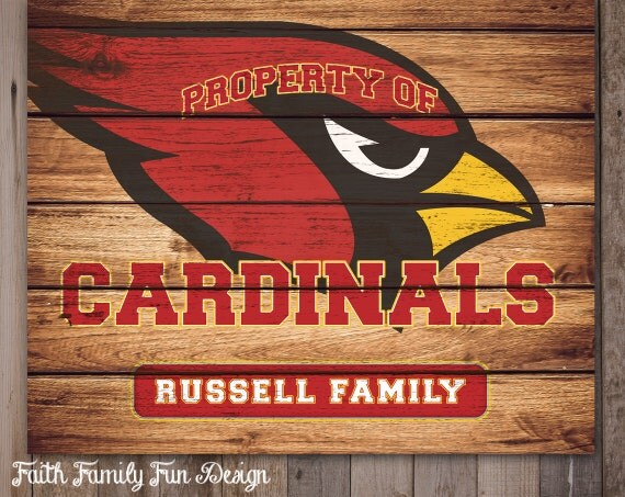 Personalized Nfl Man Cave Signs : Nfl arizona cardinals team sign printable personalized