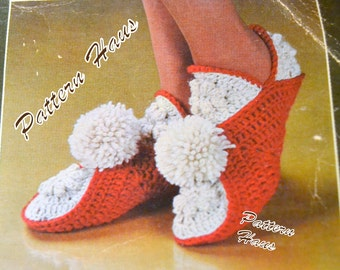 Crocheted Granny Square Slippers