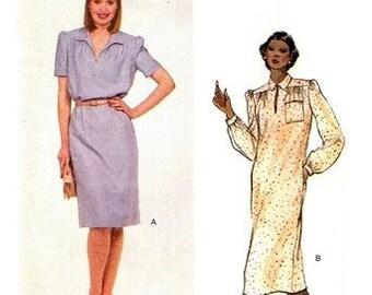 Vogue 7712 Easy Breezy Casual Dress 1980's / SZ14 UNCUT