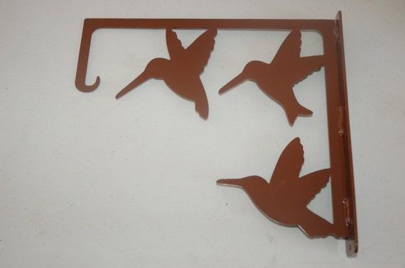Hummingbird Feeder Hanger, Plasma Cut, Metal, Outdoor Decor