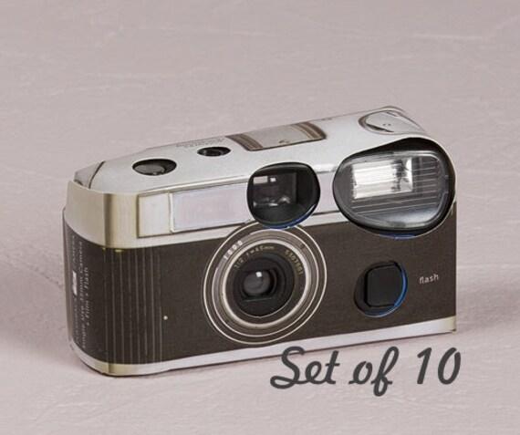Wedding Disposable Cameras: 10 Disposable Cameras Wedding Favor Vintage Design Camera