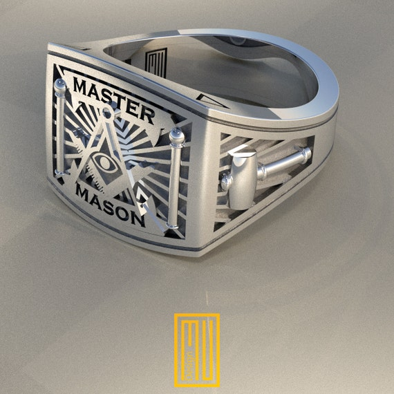 masonic ring unique design for 925k by mudesignjewelry