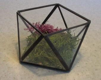 Glass Terrarium Votive Holder or Treasure Keeper