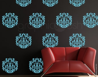 Wall decals CLASSIC DAMASK SET- Interior decor surface graphics by GraphicsMesh