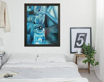 BLUE BODIES - Giclée Print on Canvas - Replica of Original Fine Art Painting - by GraphicsMesh