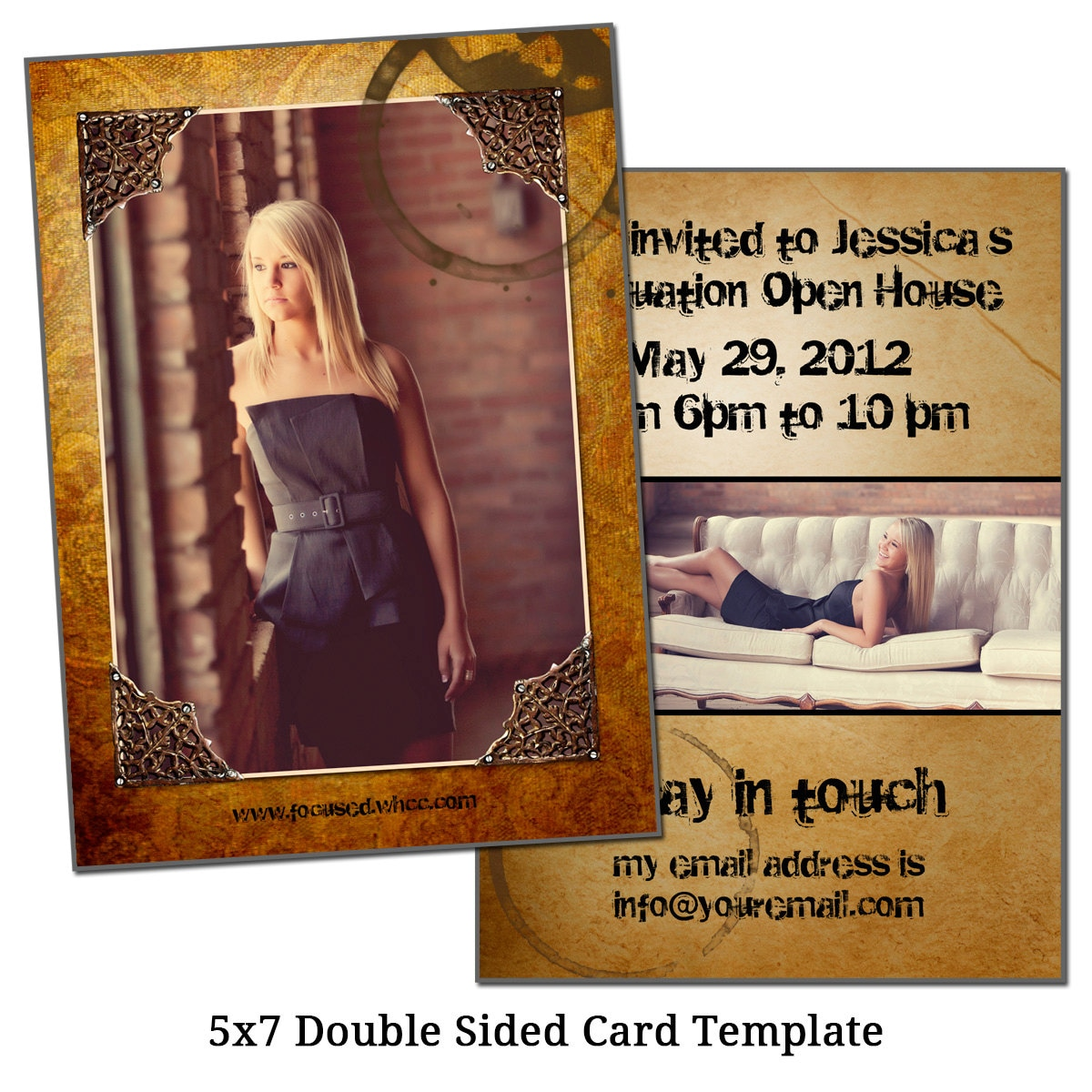 5x7 double sided card template framed future by vgallerydesigns. Black Bedroom Furniture Sets. Home Design Ideas