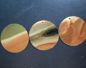 60mm flat round sequins, metallic gold, 300pcs/lot