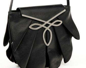 Pleated satchel jewelry - Black